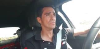 Alberto Contador au volant de sa voiture