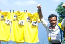 Bernard Hinault et son maillot jaune génère plus de 12 000 euros