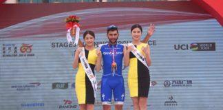 """Fernando Gaviria (Quick Step), vainqueur des trois premières étapes u Tour of Guangxi, """"aime son équipe"""""""