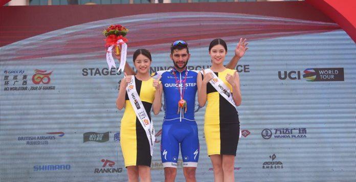 Fernando Gaviria (Quick Step), vainqueur des trois premières étapes u Tour of Guangxi,