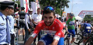 Fernando Gaviria a connu une chute sur le Tour de San Juan