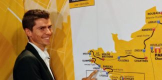 Carte Tour de France 2018 coupée en deux parties