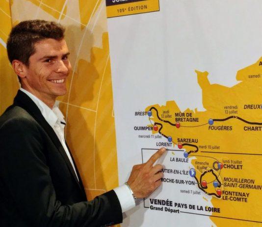 Carte Tour de France 2018 coupée en deux parties