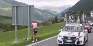 Tom Dumoulin souffre toujours de problèmes gastriques qui ont failli lui faire perdre le Giro d'Italia 2017