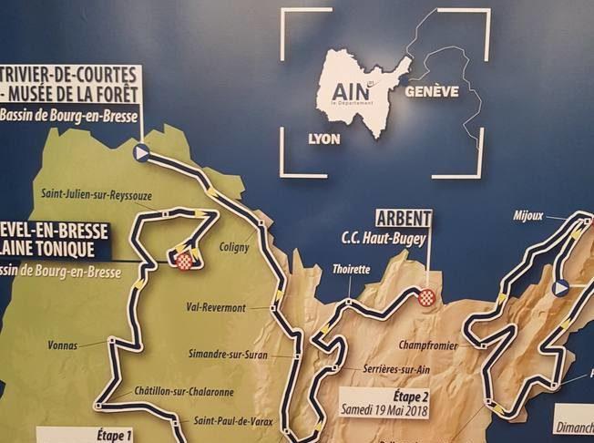 Tour de l'Ain 2018, nouveau parcours