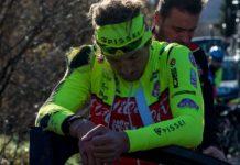 Filippo Pozzato chute à l'entraînement