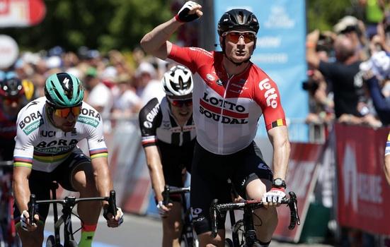 André Greipel premier leader du Tour Down Under 2018
