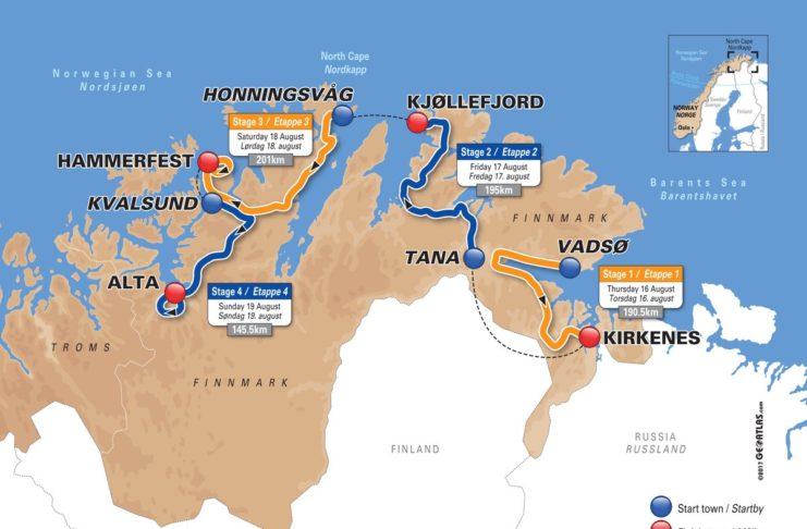 l'Arctic Race of Norway a lieu entre le 16 et le 19 août