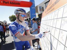 Daniel Hoelgaard est tombé dans le sprint de l'étape 1 du Tour Down Under