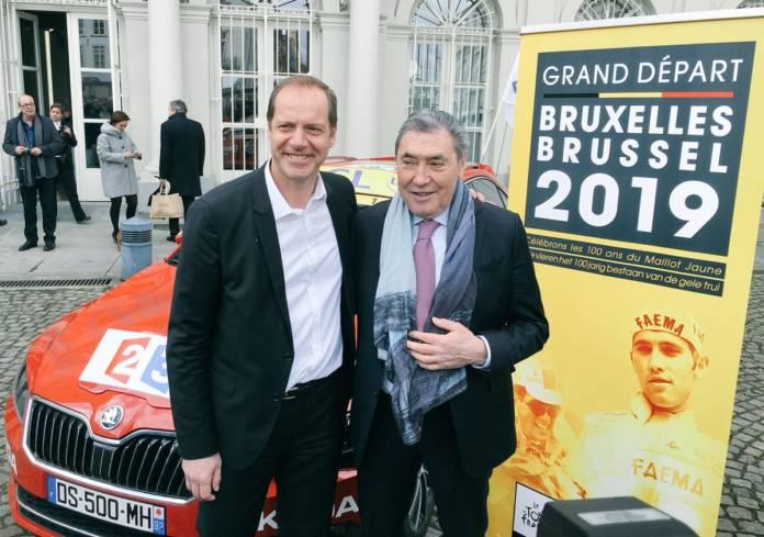 Eddy Merckx et Christian Prudhomme se sont réconciliés