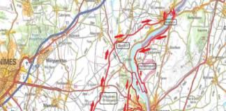 Etoile de Bessèges entre Bellegarde et Beaucaire