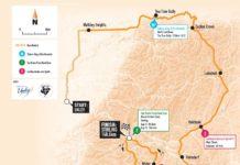 Carte de la deuxième étape du Tour Down Under 2018