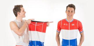 Ramon Sinkeldam (FDJ) présente son maillot de champion des Pays-Bas
