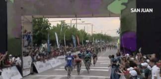 Tour de San Juan étape 1 remportée par Fernando Gaviria