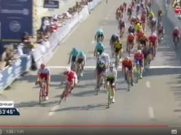 Tour de Dubai vidéo de la troisième étape Nacer Bouhanni deuxième