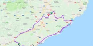Tour de Catalogne 2018 parcours étape 1 carte