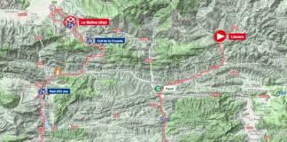 Parcours de la 4e étape du Tour de Catalogne 2018.