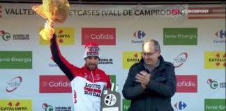 Thomas De Gendt podium Tour de Catalogne.