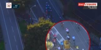 Vidéo chute Mark Cavendish