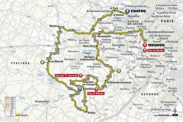 Etape 1 Paris Nice 2 parcours