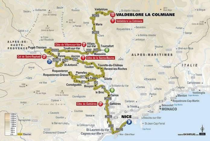 étape 7 de Paris-Nice 2018 parcours carte