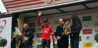 Jarlinson Pantano podium 5e étape Tour de Catalogne.