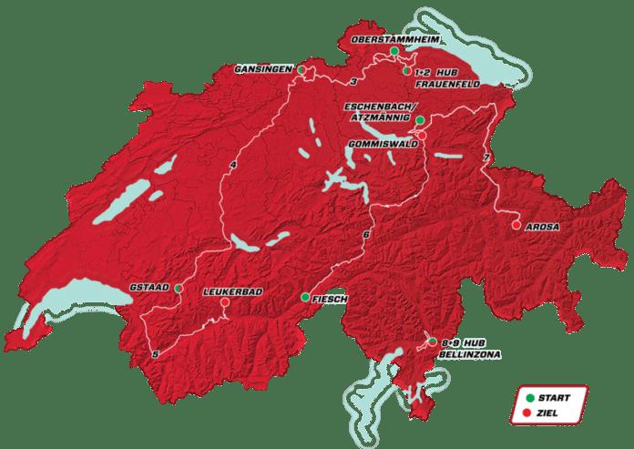 Tour de Suisse 2018 parcours