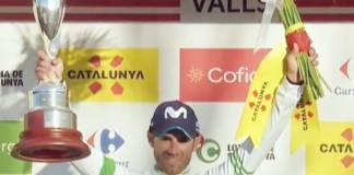 Alejandro Valverde podium 2e etape Tour de Catalogne.