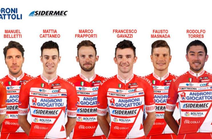 Composition Androni-Sidermec Tour d'Italie 2018
