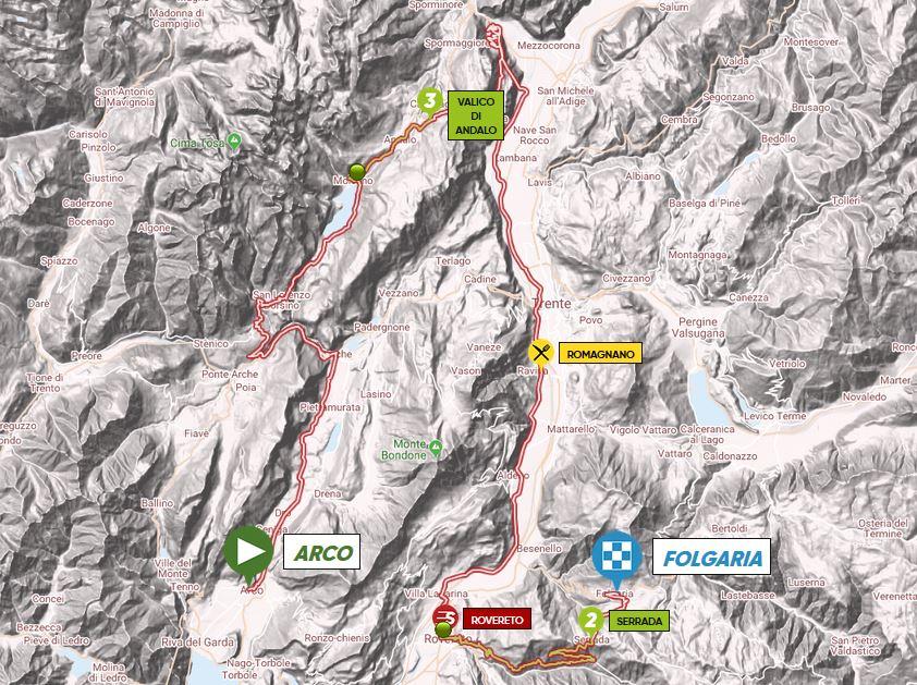 Parcours étape 1 Tour des Alpes 2018