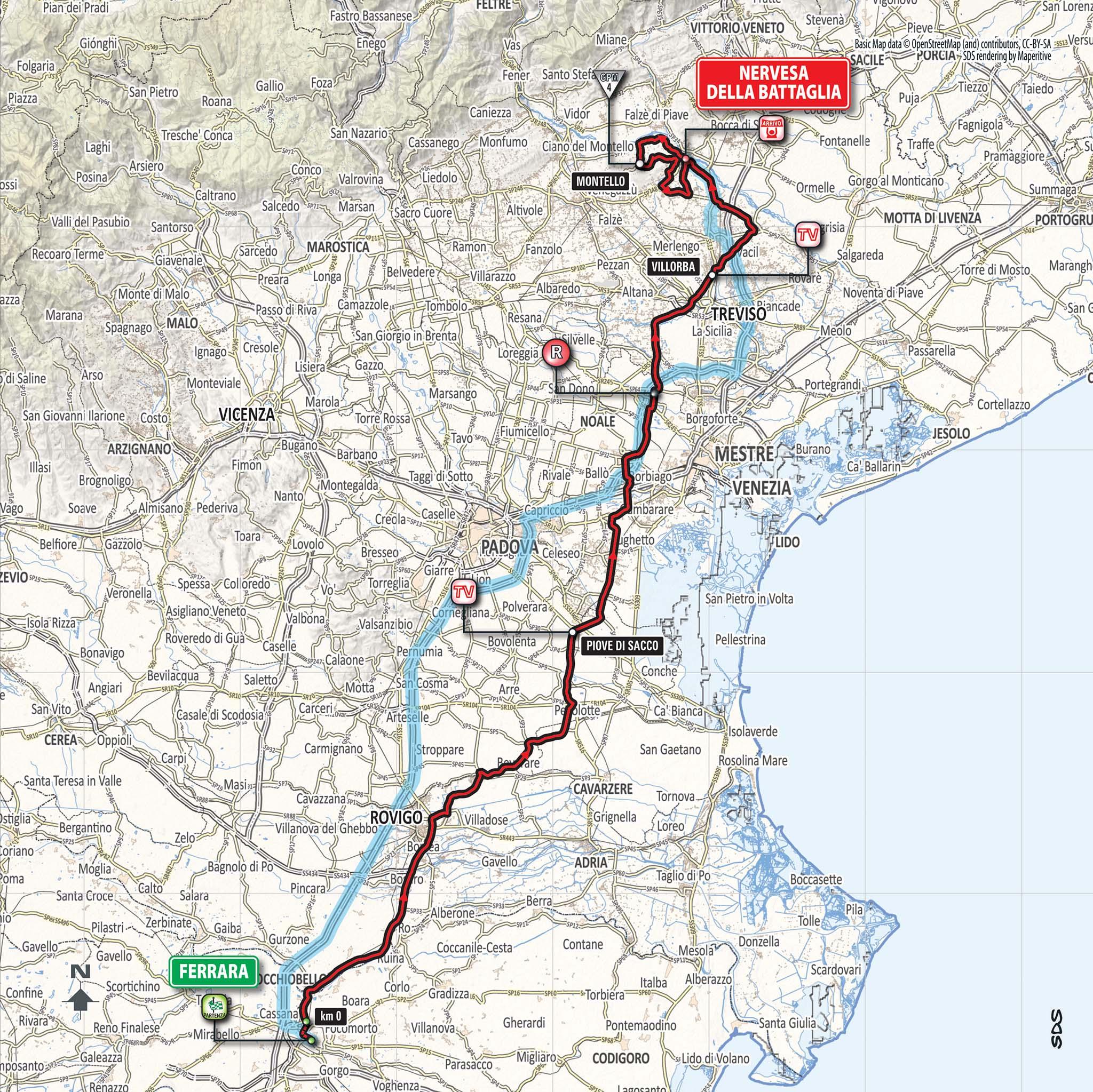 Parcours étape 13 Giro 2018
