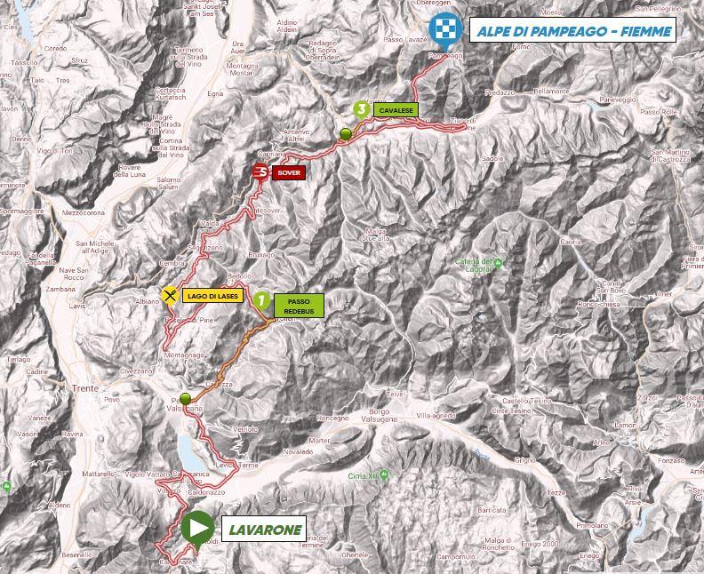 Parcours étape 2 Tour des Alpes 2018