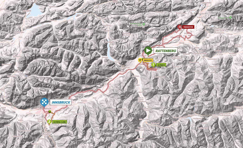 Parcours étape 5 Tour des Alpes 2018