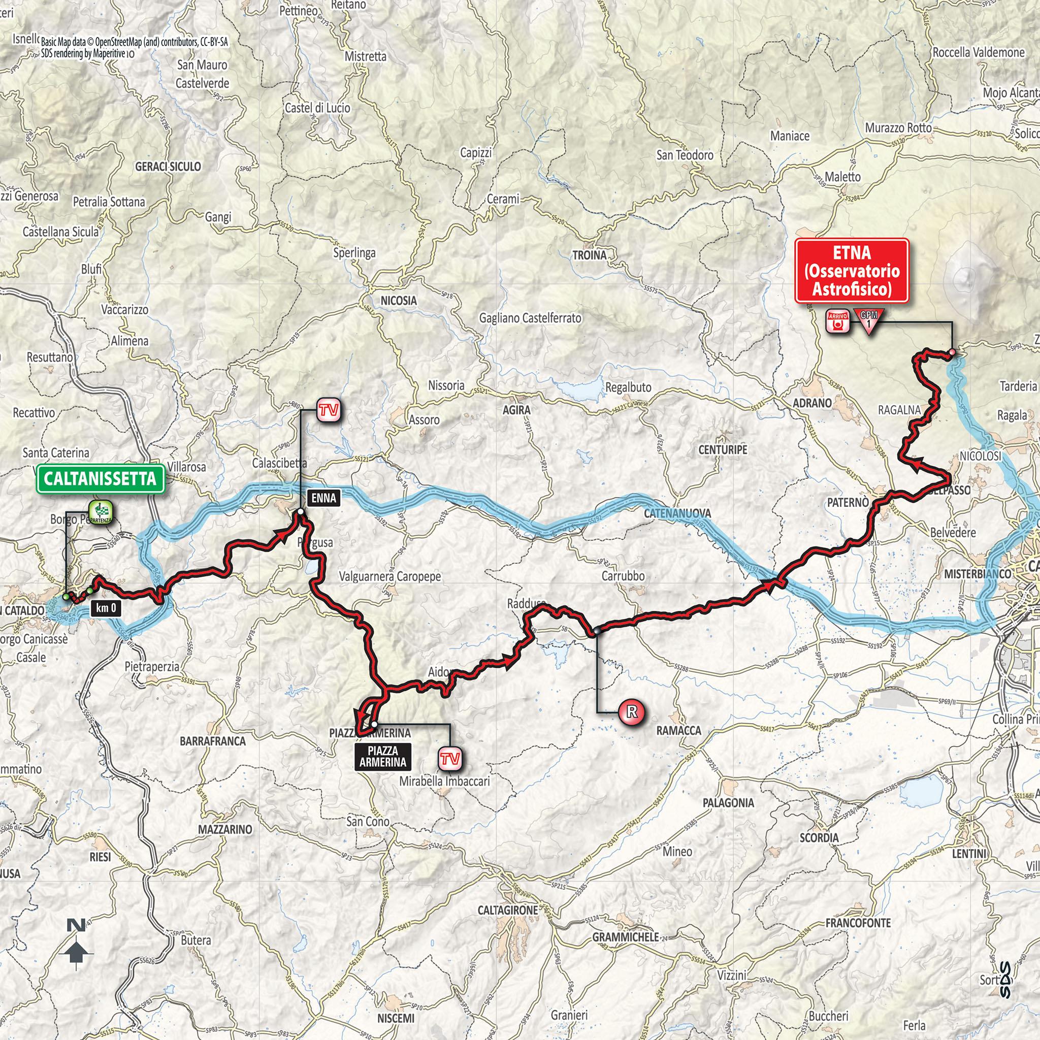 Parcours étape 6 Giro 2018