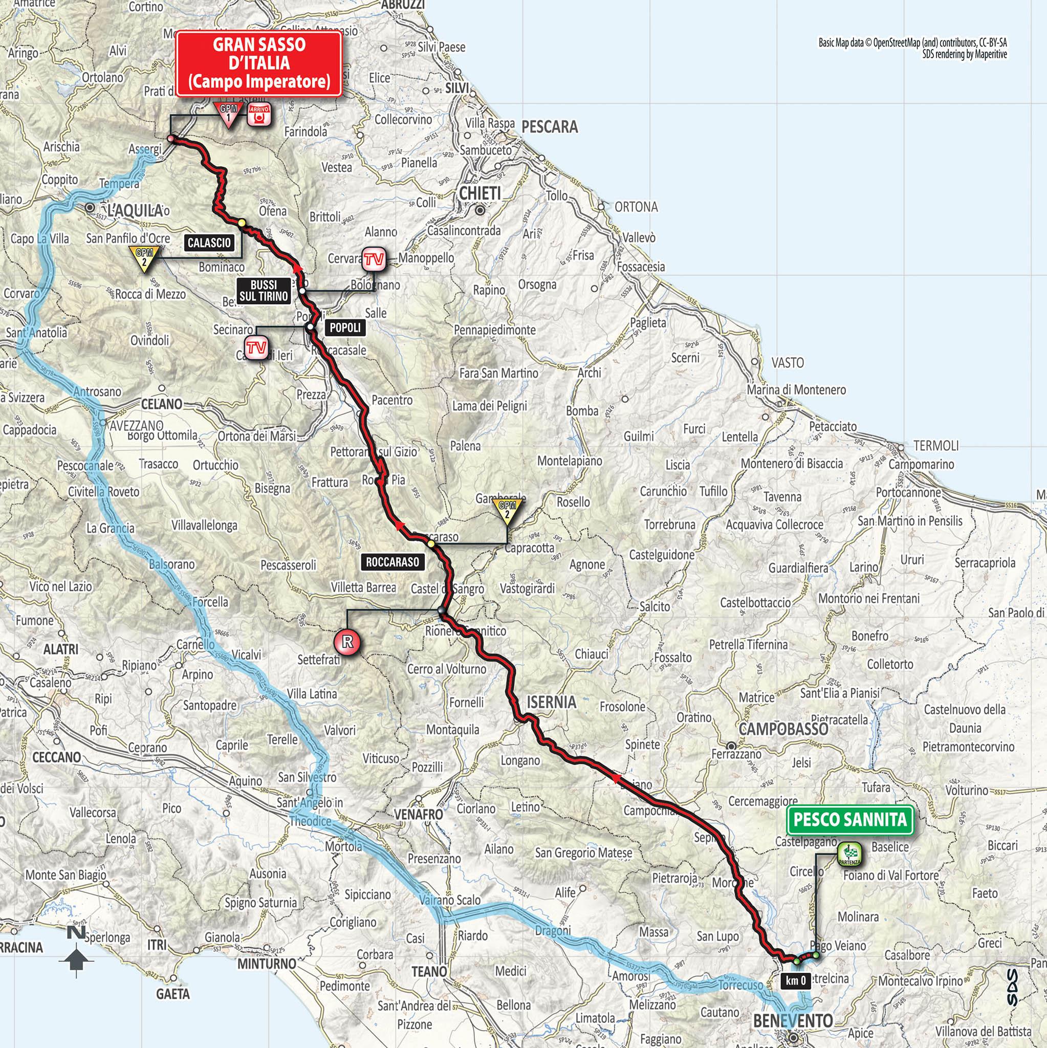 Parcours étape 9 Giro 2018
