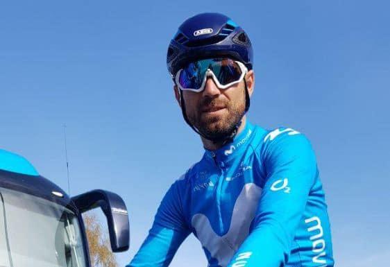 Alejandro Valverde porteur du maillot arc-en-ciel