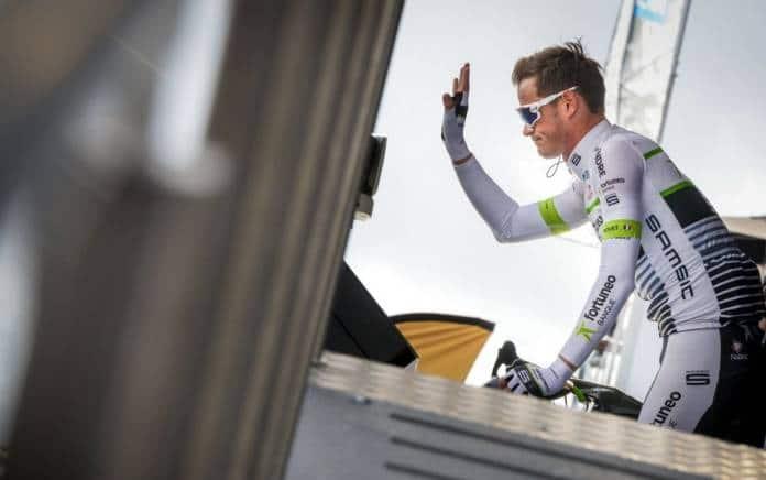 Maxime Bouet au départ du Tour de Bretagne Cycliste 2018