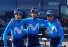 Tour de France avec reconnaissance pavés par Movistar