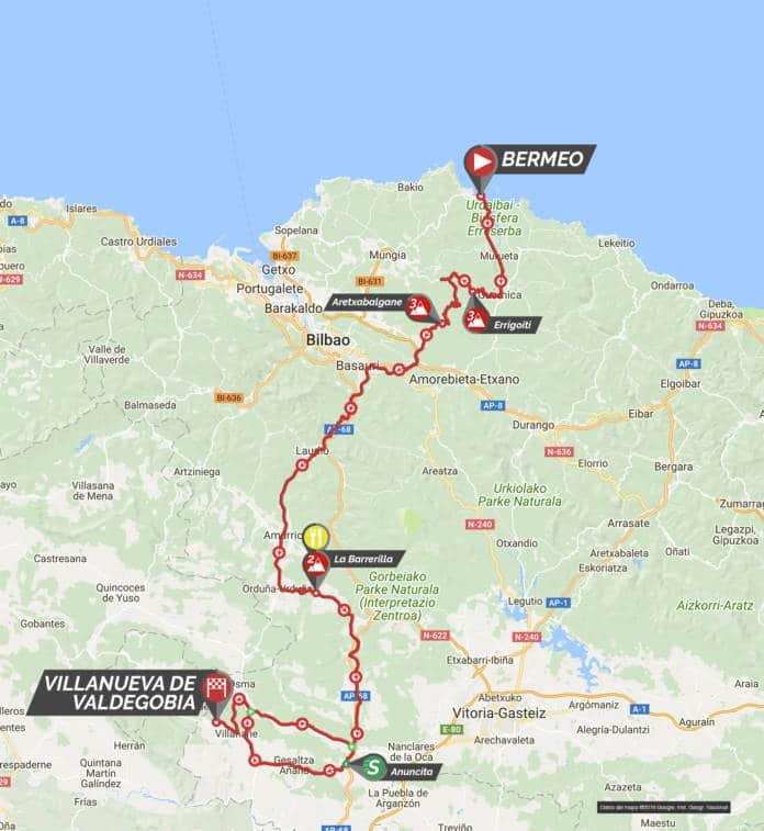 parcours étape 3 tour du pays basque 2018