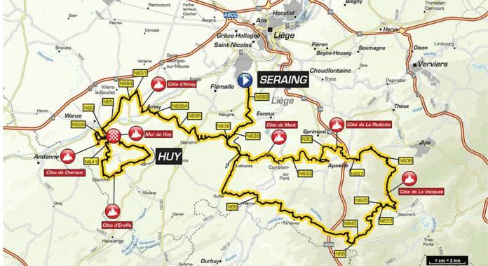 Flèche Wallonne 2018 parcours