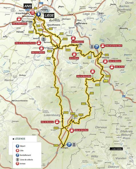 Liège-Bastogne-Liège 2018 parcours
