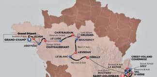 Tour de l'Avenir 2018 parcours carte