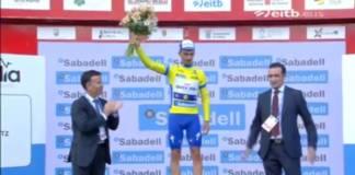 podium julian alaphilippe étape 2 tour du pays basque 2018