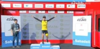 primoz roglic podium étape 4 tour du pays basque 2018