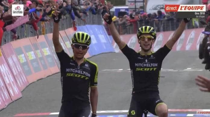Giro 2018 doublé de mitchelton-scott à l'etna
