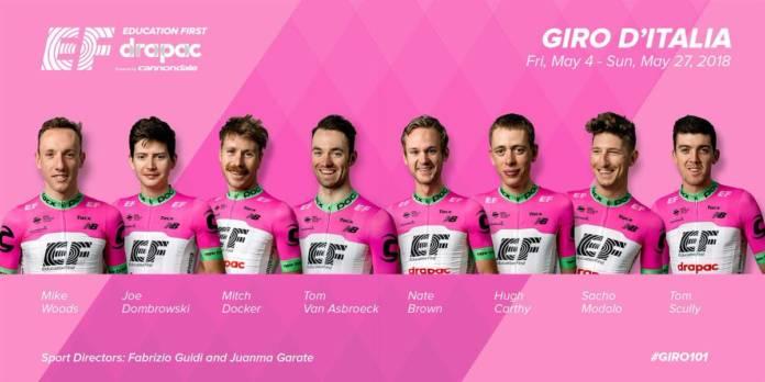 Tour d'Italie 2018 la composition EF Education First - Drapac