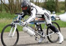 François Gissy le recordman de velo-fusée se tue à l'entraînement