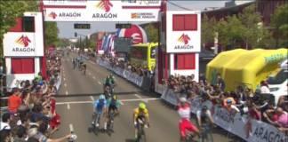 Tour d'Aragon victoire de Malucelli au sprint