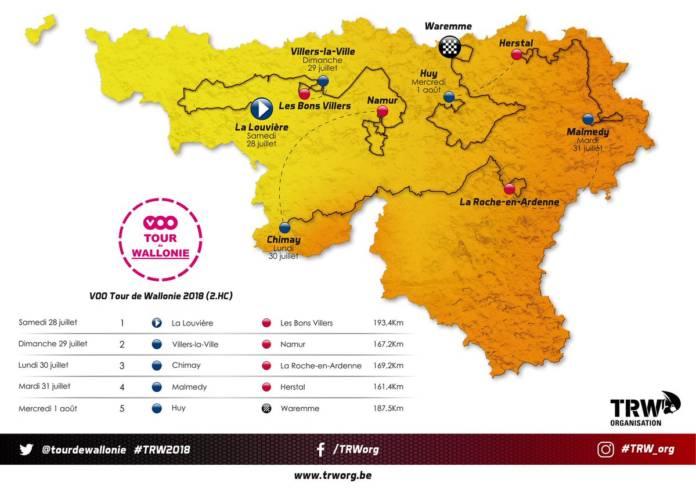 Tour de Wallonie 2018 parcours