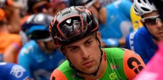 Giovanni Carboni Bardiani-CSF heurte par une voiture à l'entrainement